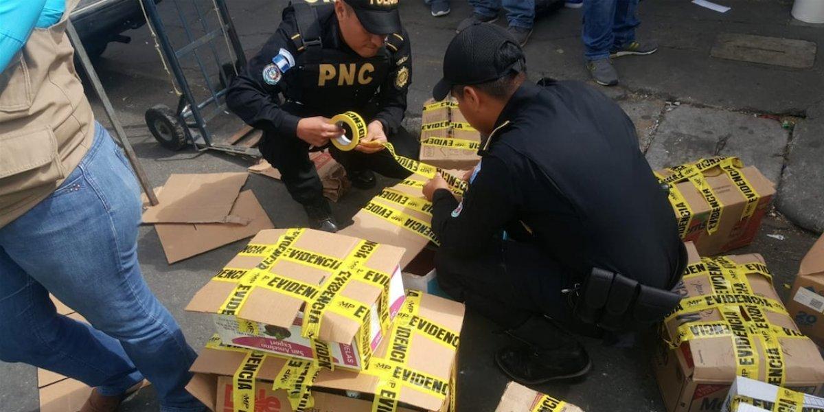 Incautan productos de contrabando tras allanamientos