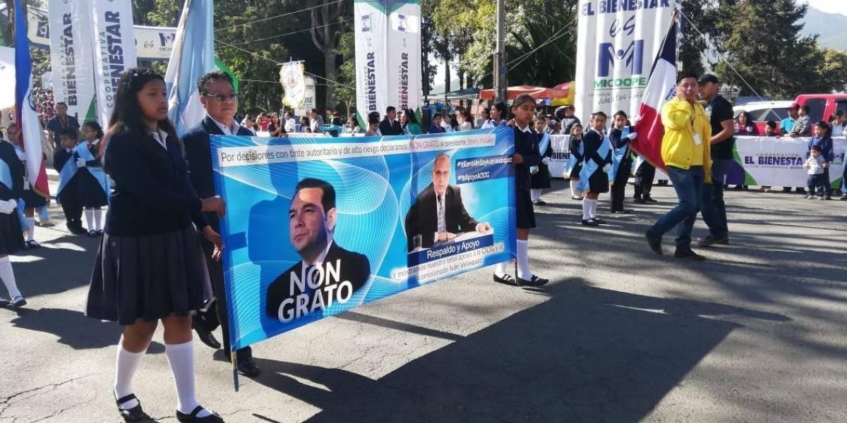 Ramón Yax, mantas CICIG