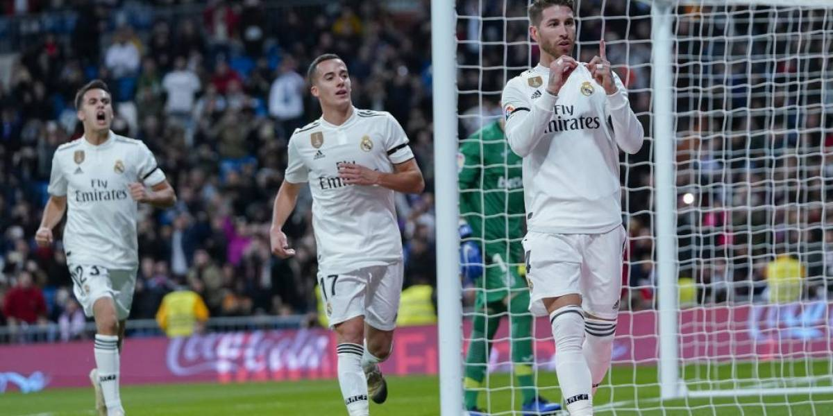 Sergio Ramos anotó su gol 100 en el triunfo del Real Madrid