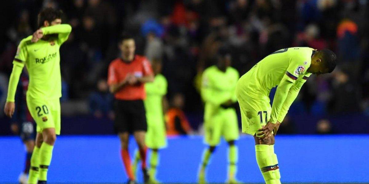 Levante sorprende al Barcelona en la Copa del Rey