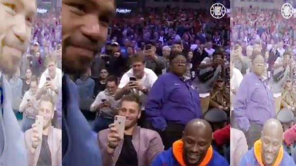 Pacquiao y Mayweather se reencontraron en un partido de la NBA
