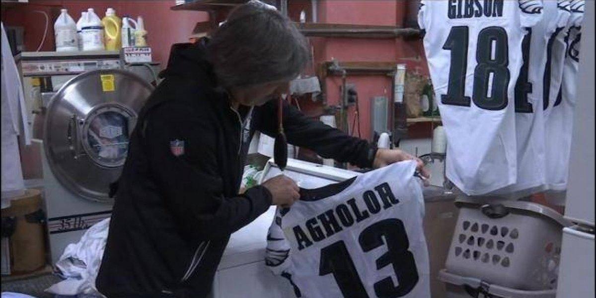'No quiero morir', dueño de lavandería que limpia uniformes de los Eagles