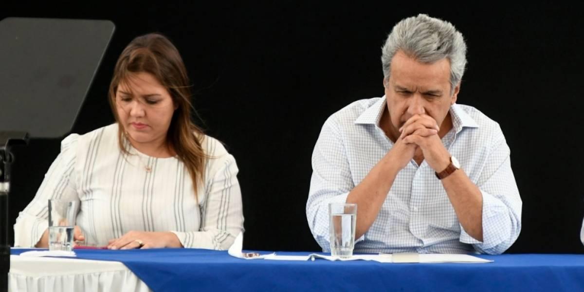 María Alejandra Vicuña pide al presidente Lenín Moreno que se retire su seguridad pública