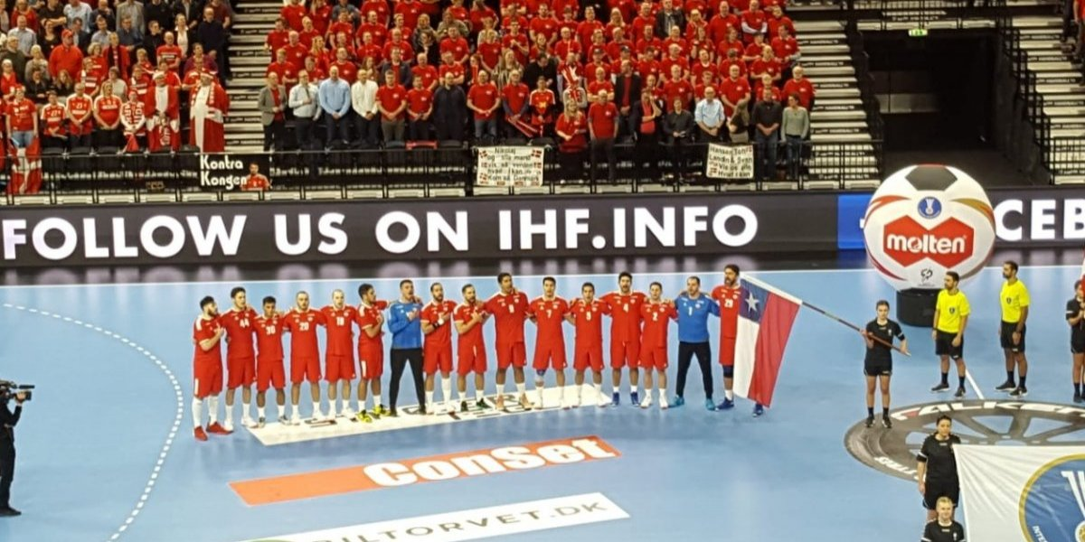 Chile sufrió un duro revés ante el local Dinamarca en el Mundial de Balonmano