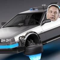 Elon Musk usa un DeLorean para anunciar su intención de un Tesla volador. Noticias en tiempo real