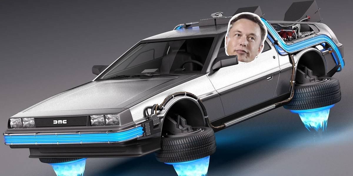 DeLorean Tesla Elon Musk