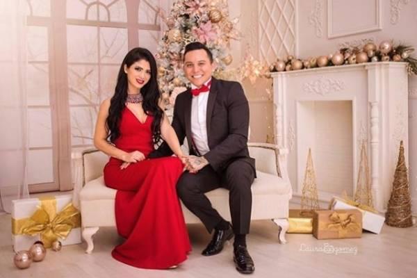 Kim Flores y Edwin Luna