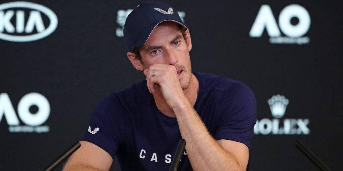 Murray rompe en llanto al anunciar su retiro del Abierto de Australia