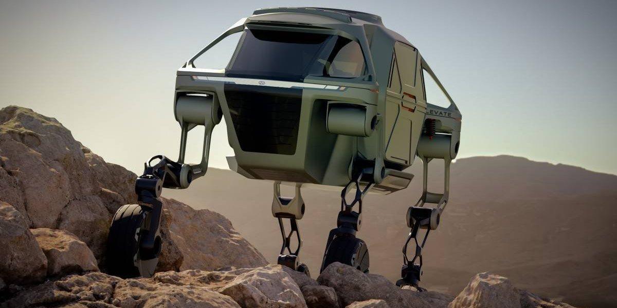 Elevate, el prototipo de auto de rescate de Hyundai que camina