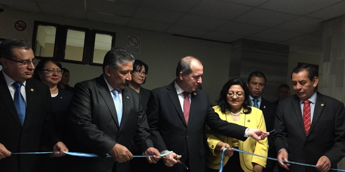 """Magistrados de la CSJ inauguran juzgado y tribunal de Mayor Riesgo """"E"""""""