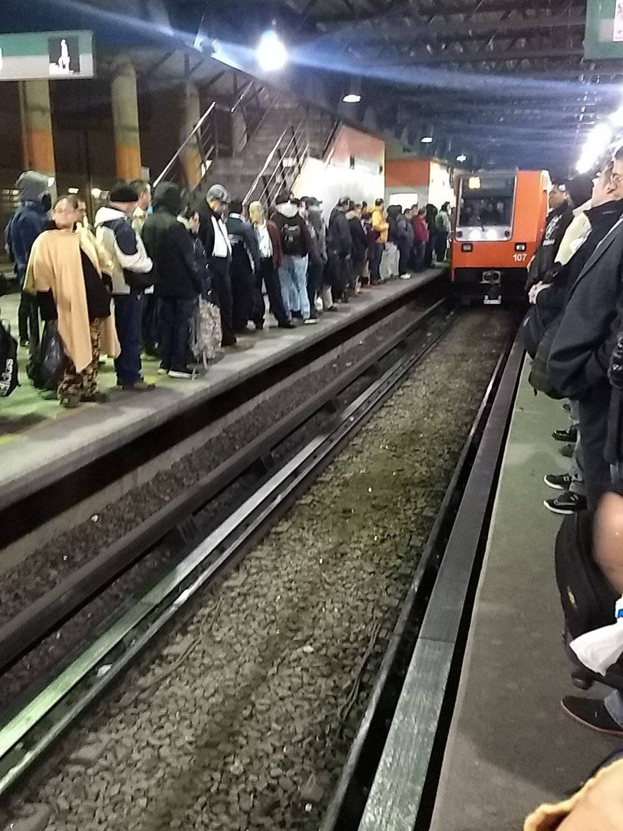 Línea B del Sistema de Transporte Colectivo Metro Foto: Twitter @NirvisCano