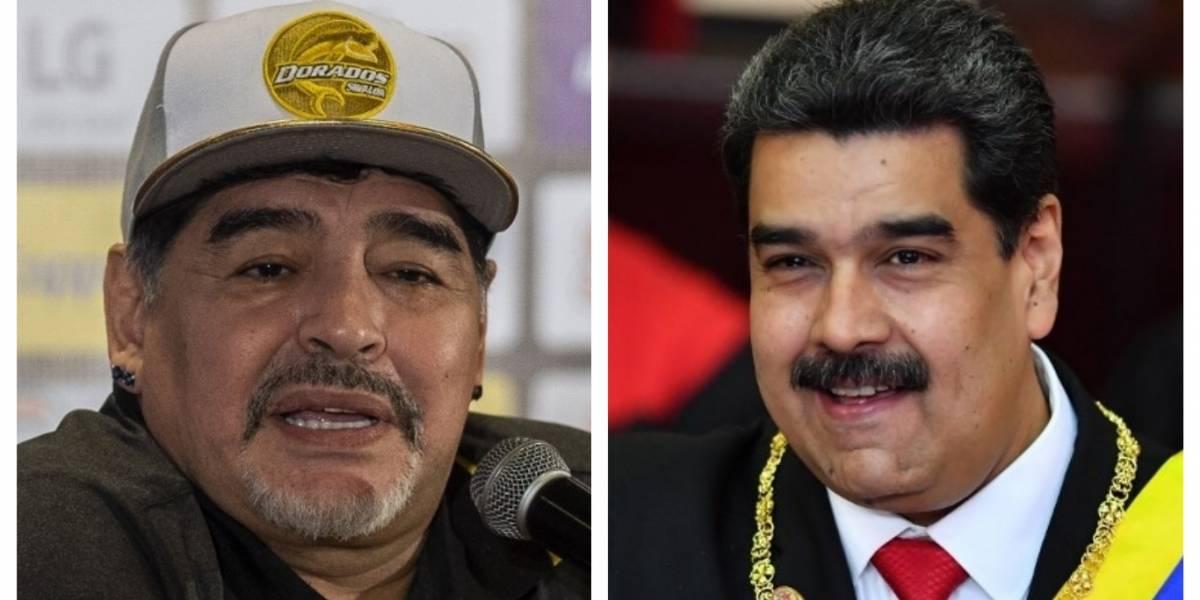 Maradona publica un polémico mensaje de apoyo a Maduro en Instagram