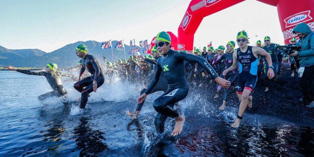Hay futuro en el triatlón: Niños y jóvenes encendieron el ambiente en la previa al Ironman de Pucón