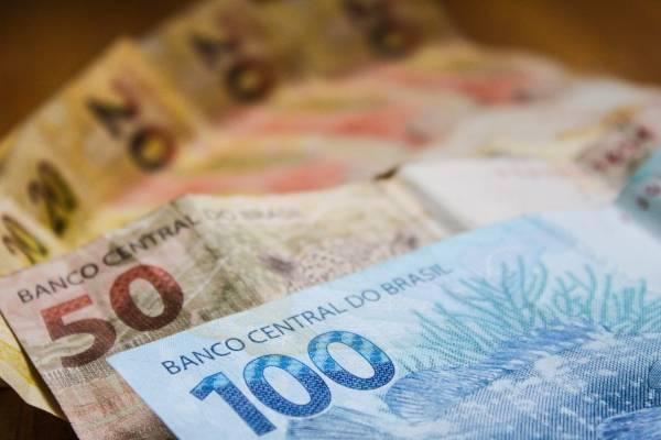 Dinheiro notas reais real nota real cédula real