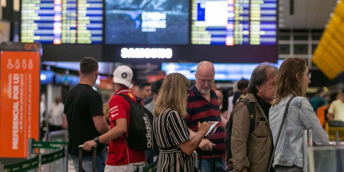 Chuva fecha aeroporto de Congonhas; 25 voos foram cancelados
