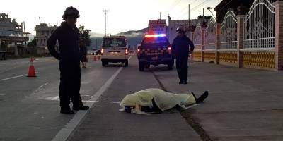 agente de Tránsito de la PNC muere atropellado en Chimaltenango