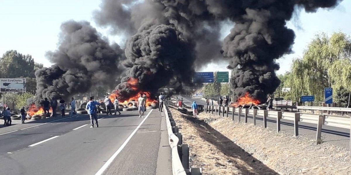 """Pescadores artesanales cortaron Ruta 5 Sur: declararon """"guerra por la jibia"""""""