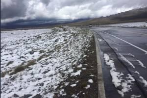 Dos heridos por caída de nieve en el Arenal, vía Ambato- Guaranda