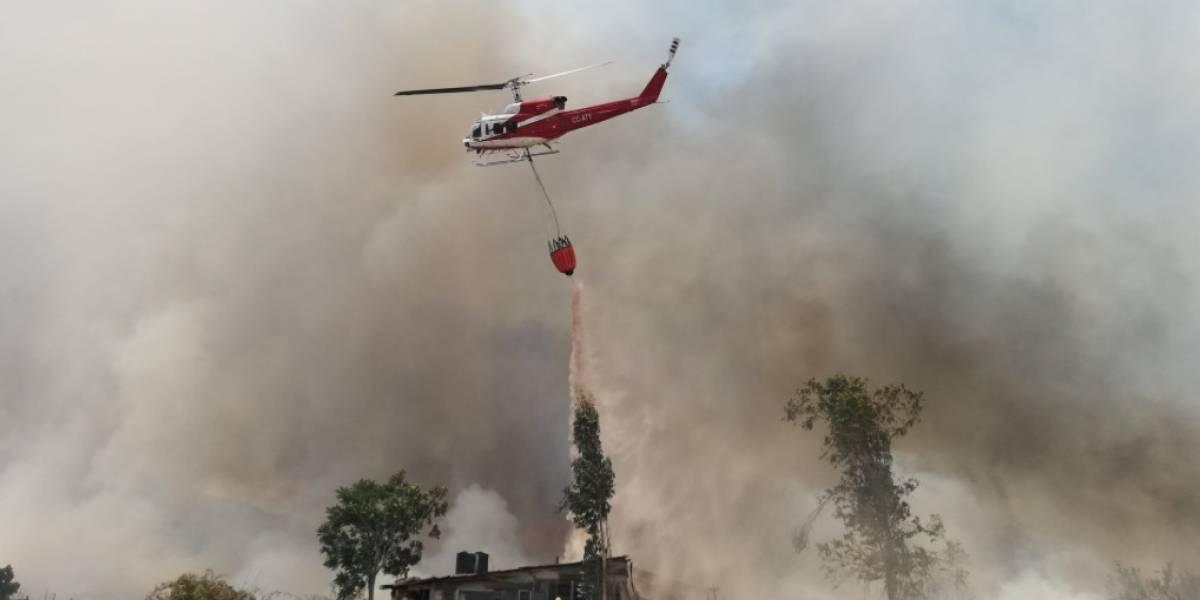 Onemi canceló alerta roja en Comuna de Puente Alto: incendio forestal amenazó zonas residenciales