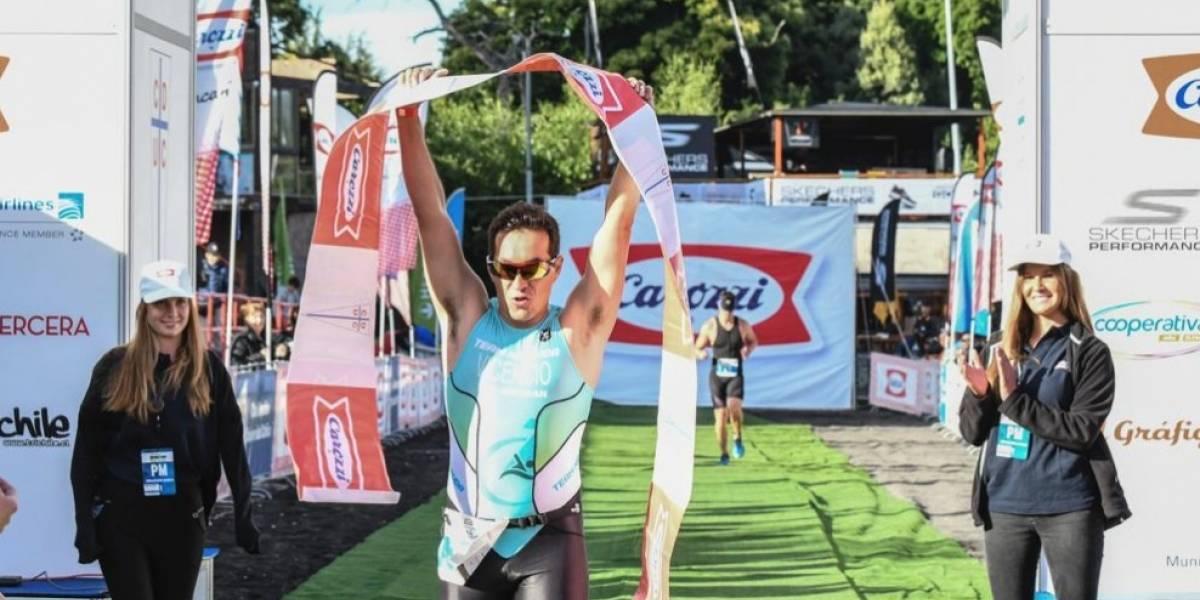 Las regiones sacaron la cara en Pucón en triatlón previo al Ironman