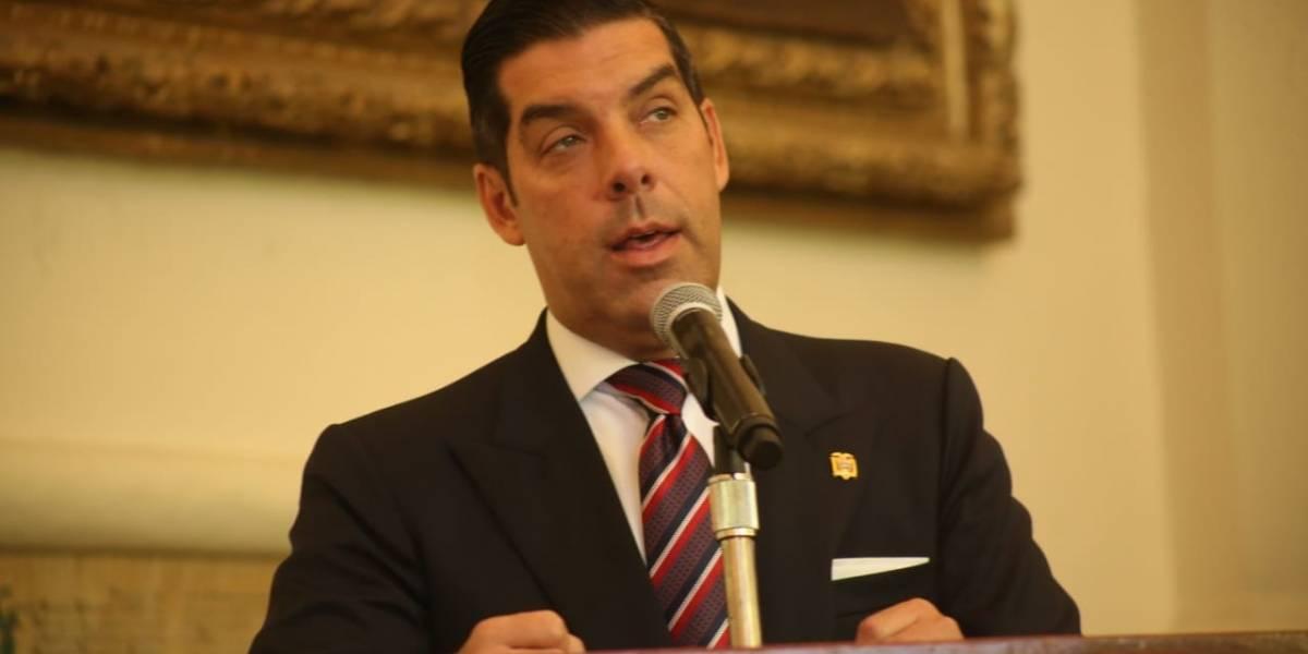 Raúl Ledesma, nuevo ministro de Ambiente y Vicente Arroba Secretario General de Comunicación de la Presidencia