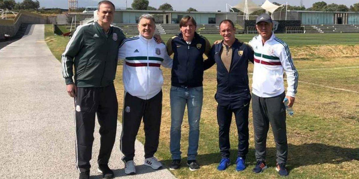 Gerardo Martino visita entrenamiento de Pumas