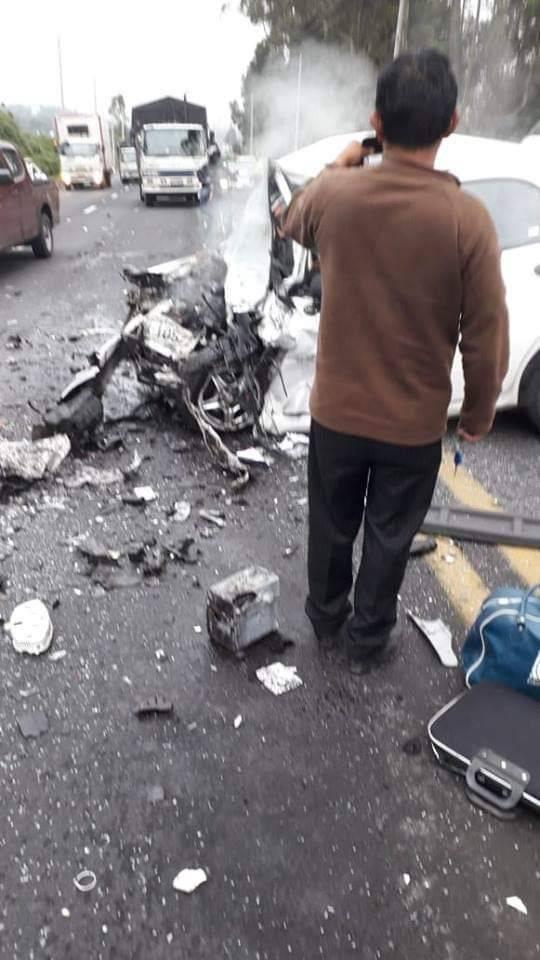 Una mujer de 47 años falleció y tres personas resultaron heridas por accidente de tránsito en Machachi FOTOS CORTESIA REYNA NOTICIAS