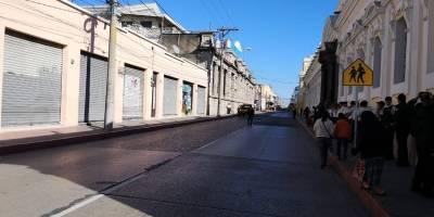 Calles cerradas alrededor del Congreso