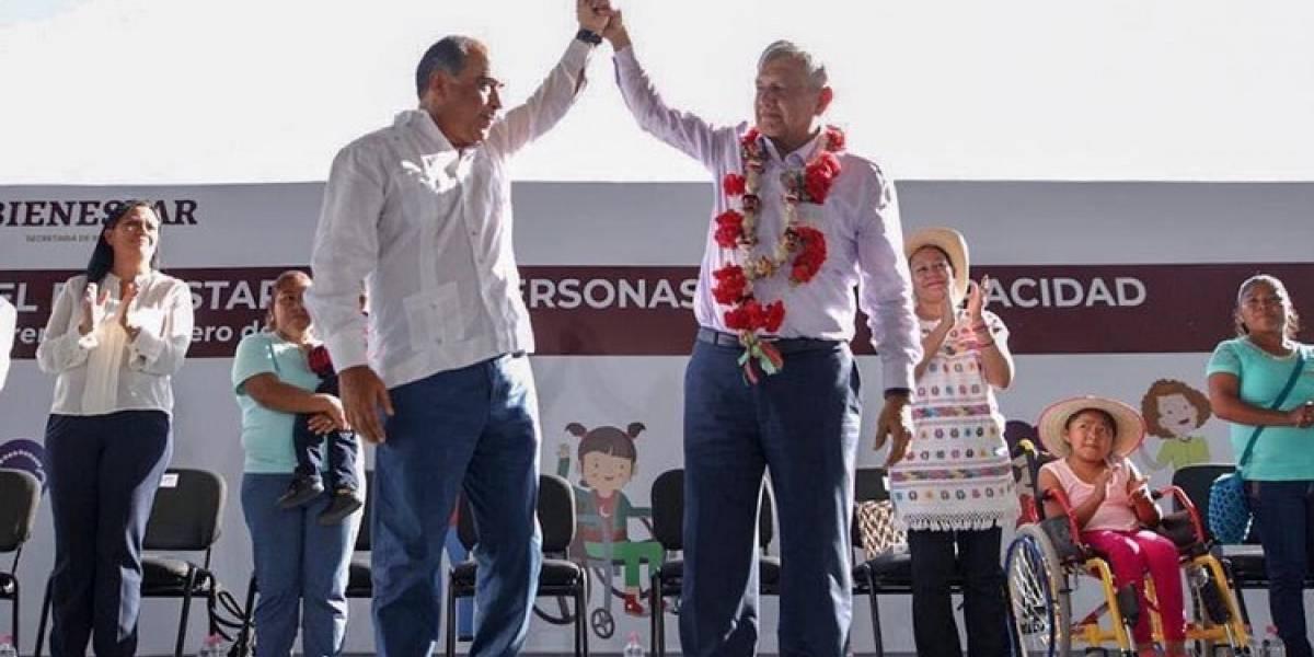 Acompaña Astudillo a López Obrador en inicio de programa Pensión para personas con Discapacidad
