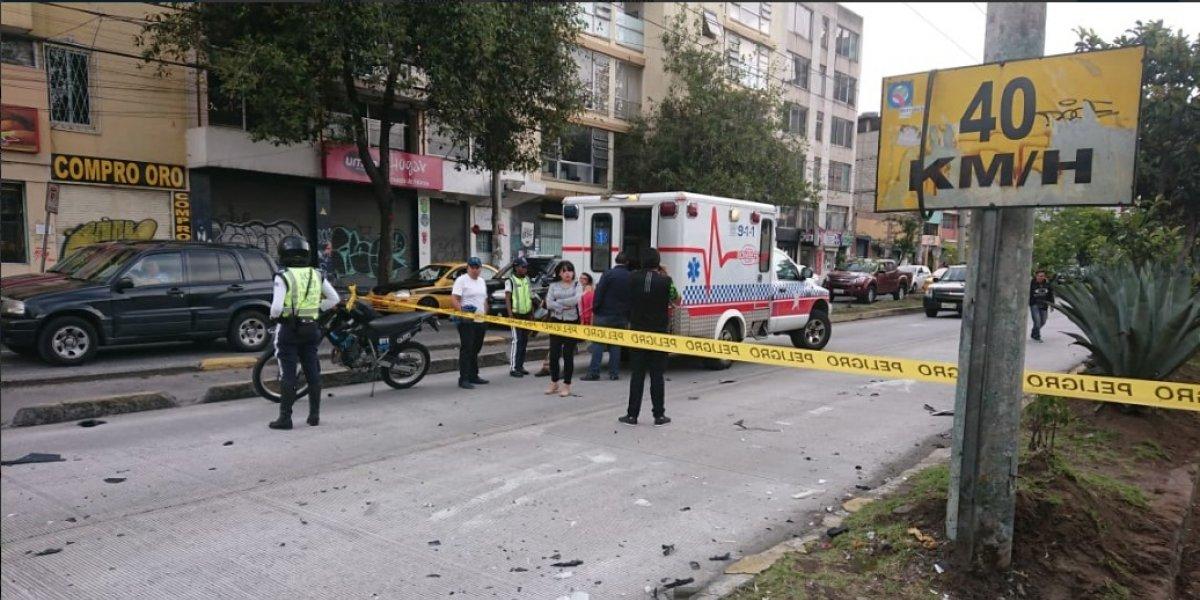 Quito: Accidente de tránsito en la Av 10 de Agosto y Veintimilla