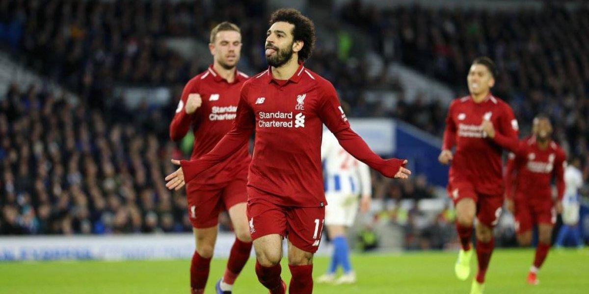 Mohamed Salah le dio la victoria a Liverpool sobre Brighton y ahora le sacó siete cuerpos al City