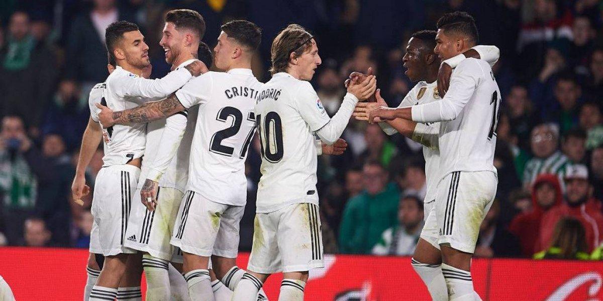 El irregular Real Madrid volvió a los festejos en la Liga tras vencer ajustadamente al Betis