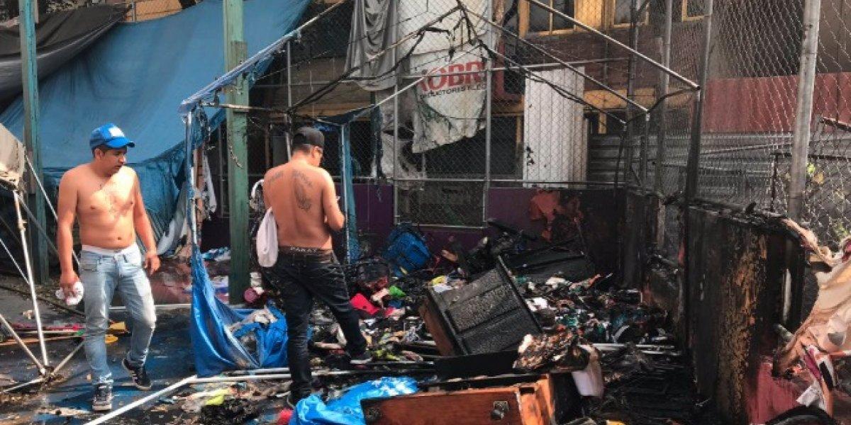 Se incendia uno de los campamentos del Multifamiliar Tlalpan