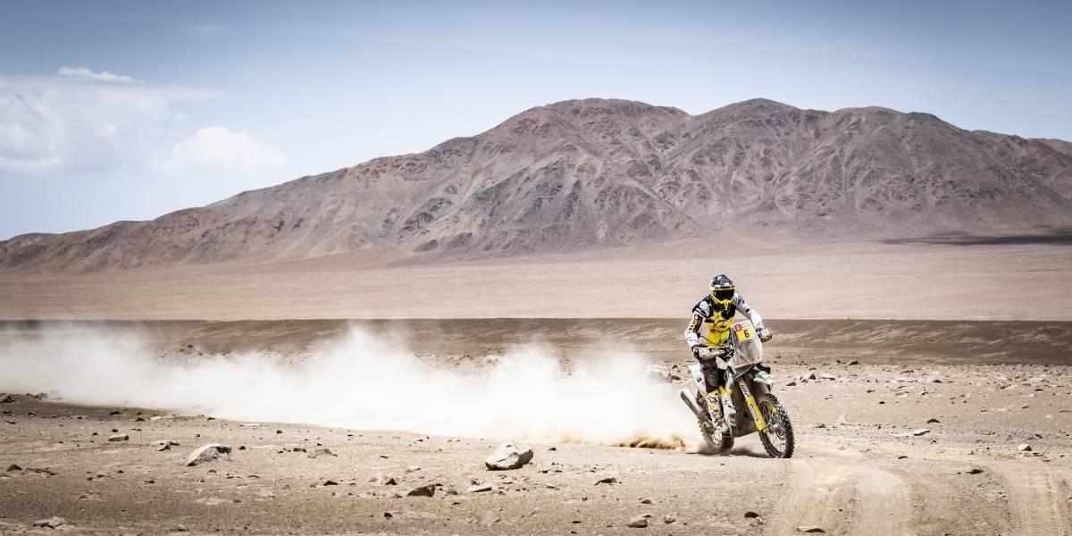 Pablo Quintanilla obtiene su primera etapa en el Rally Dakar y recuperó el liderato en la general de motos