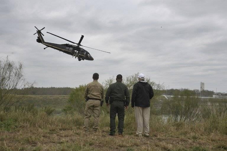 Trump en la frontera con México