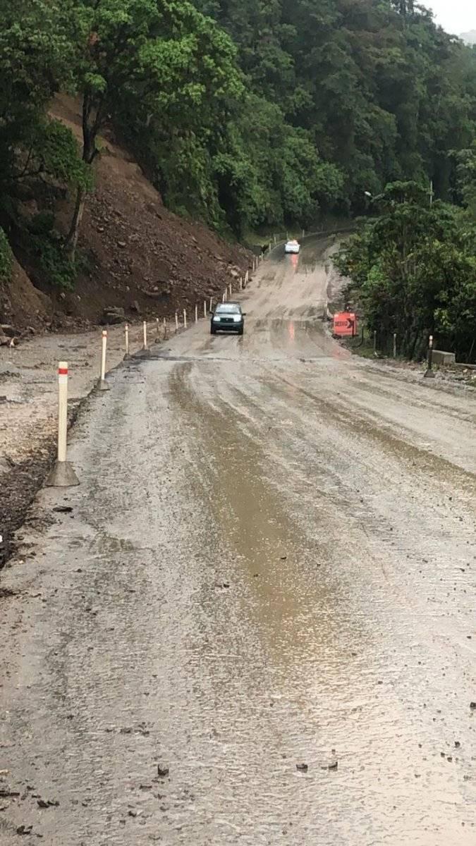 Vía Alóag- Santo Domingo está habilitada Cortesía
