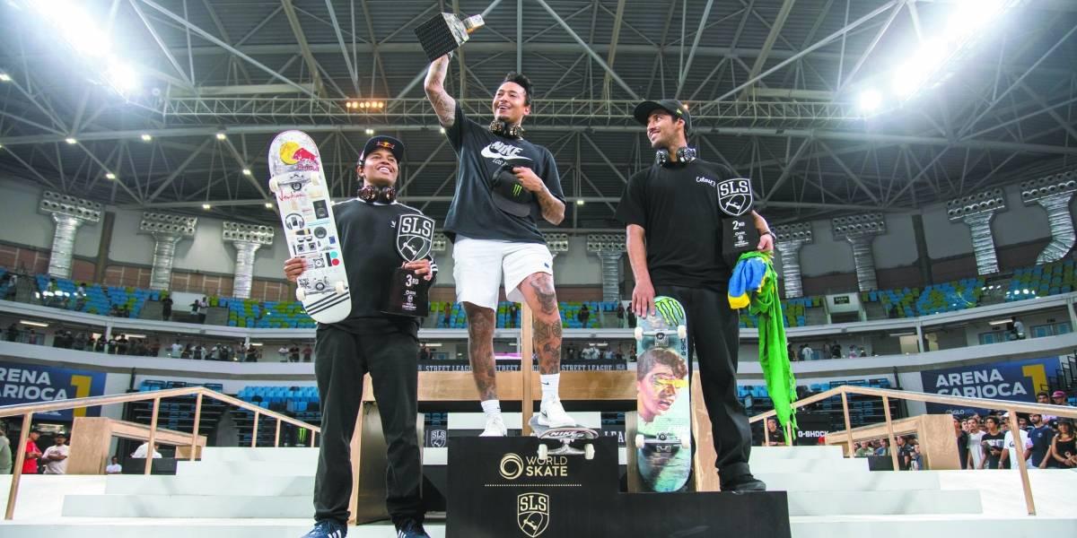 Skate: Brasil tem três representantes nos pódios do Mundial de Street League