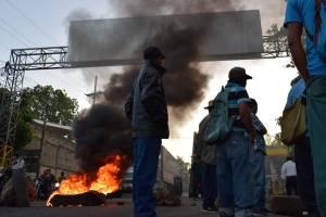 bloqueos en Suchitepéquez contra el Gobierno