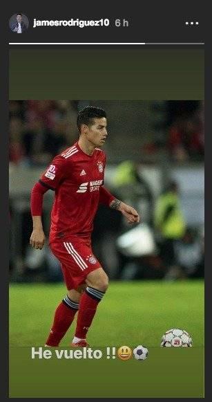 James Bayern München vuelta