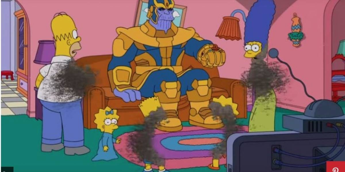Thanos hace desaparecer a Los Simpson en nuevo capítulo