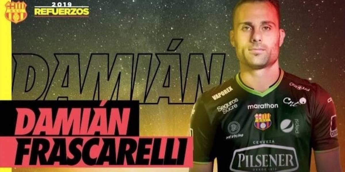 Damián Frascarelli Es el nuevo arquero de Barcelona SC