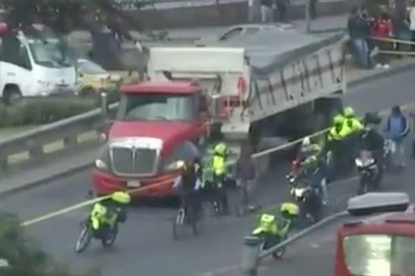 Accidente Av Las Américas con 68 hoy lunes 14 de enero