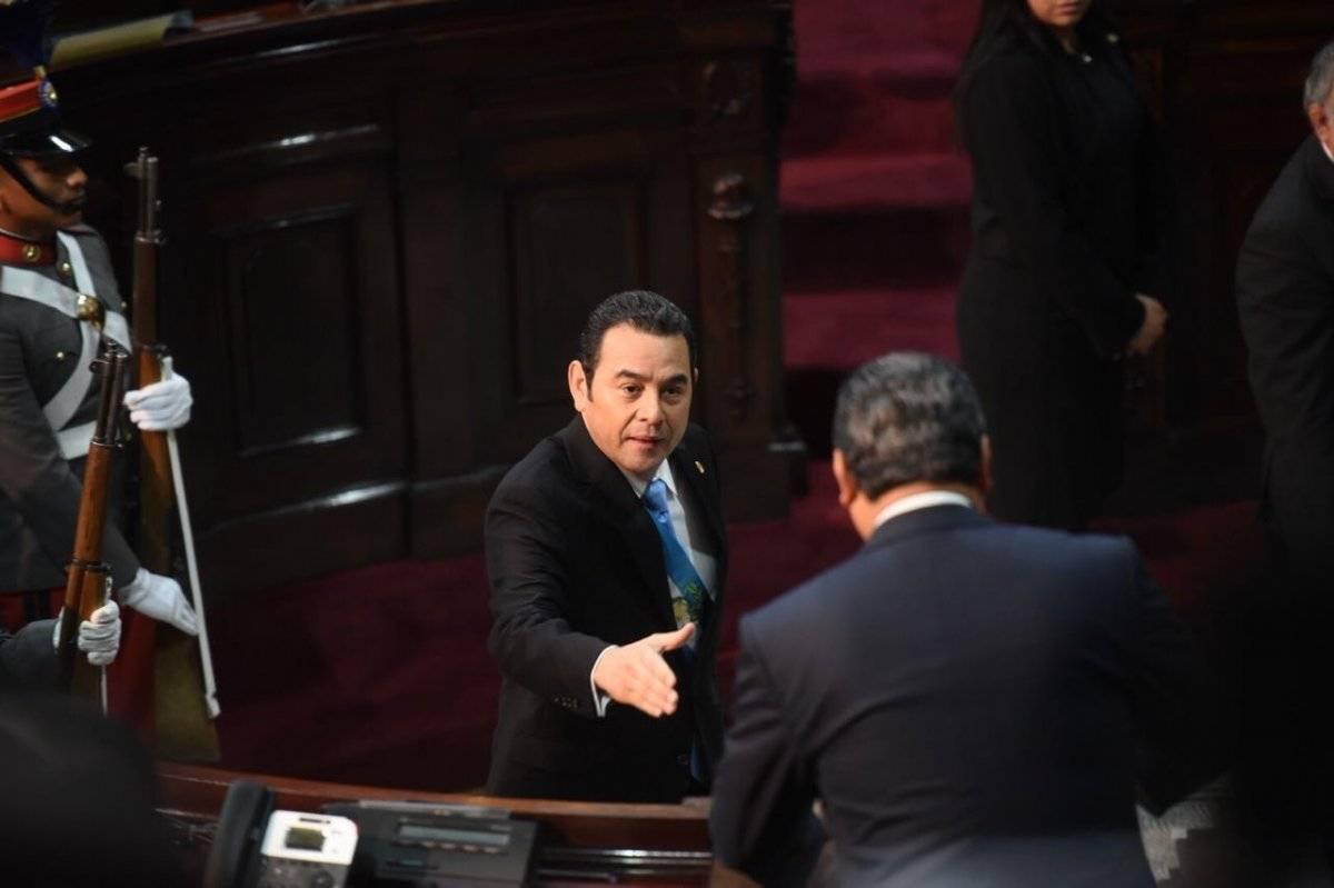 Presidente Jimmy Morales. Foto: Edwin Bercián
