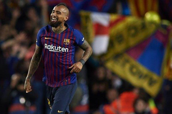 La celebración de Vidal tras su gol ante los merengues / imagen: Getty Images