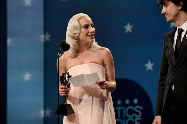 Lady Gaga critics choice awards