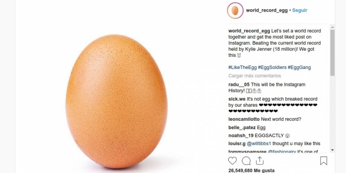 ¡Batió record! Desconocido subió la foto de un huevo y se convirtió en la más gustada en la historia de Instagram