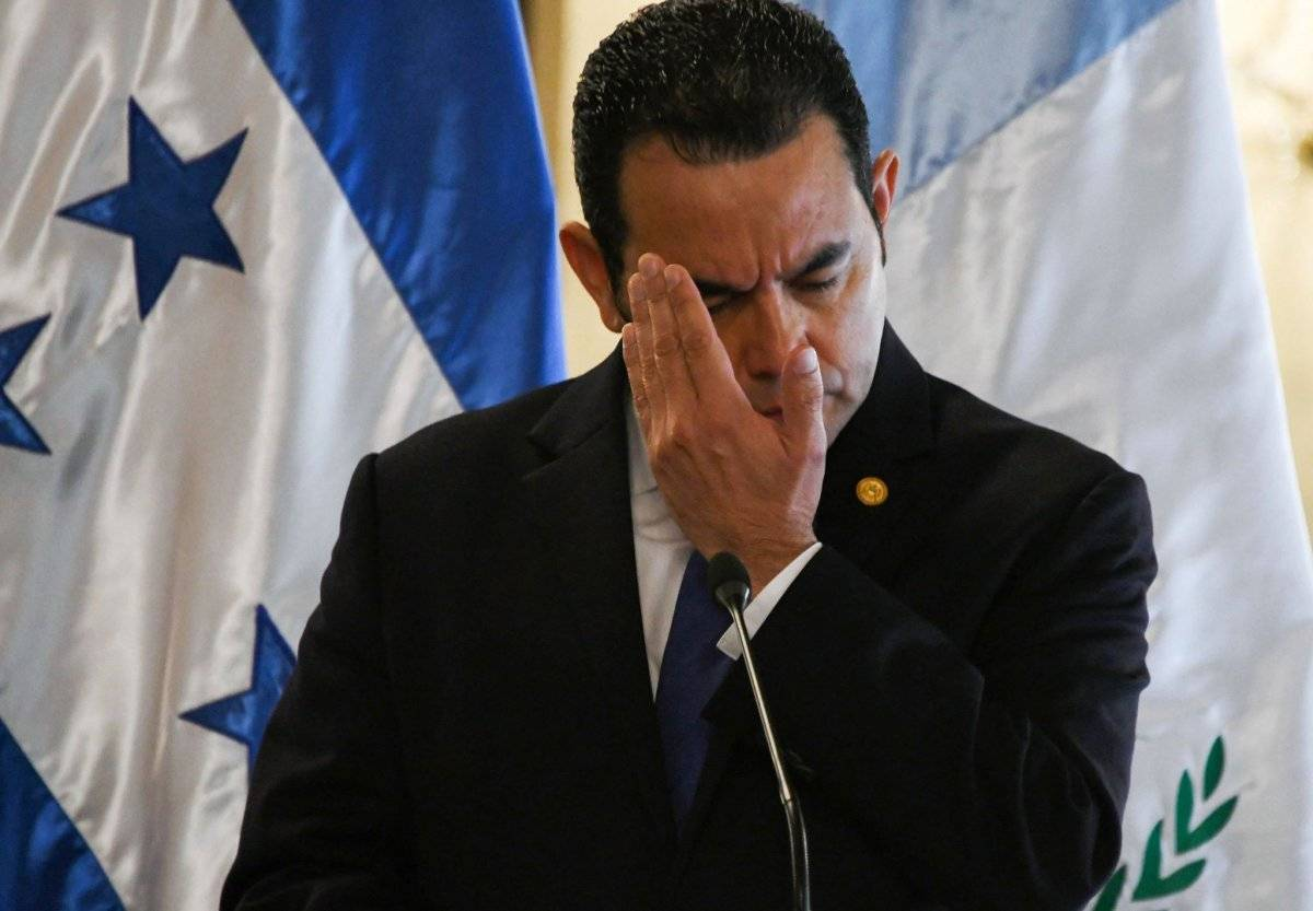 Presidente Jimmy Morales. Foto: AFP