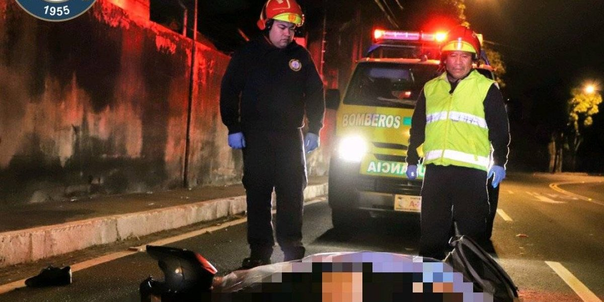Muere motorista tras accidentarse en la zona 13