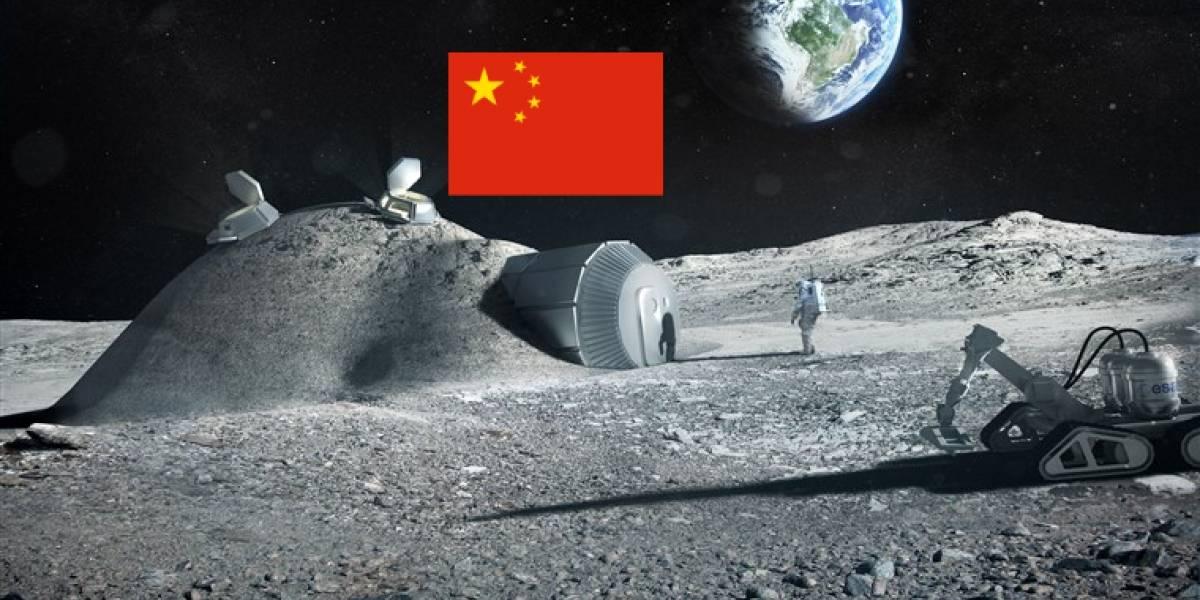China quiere montar una base lunar usando impresión 3D