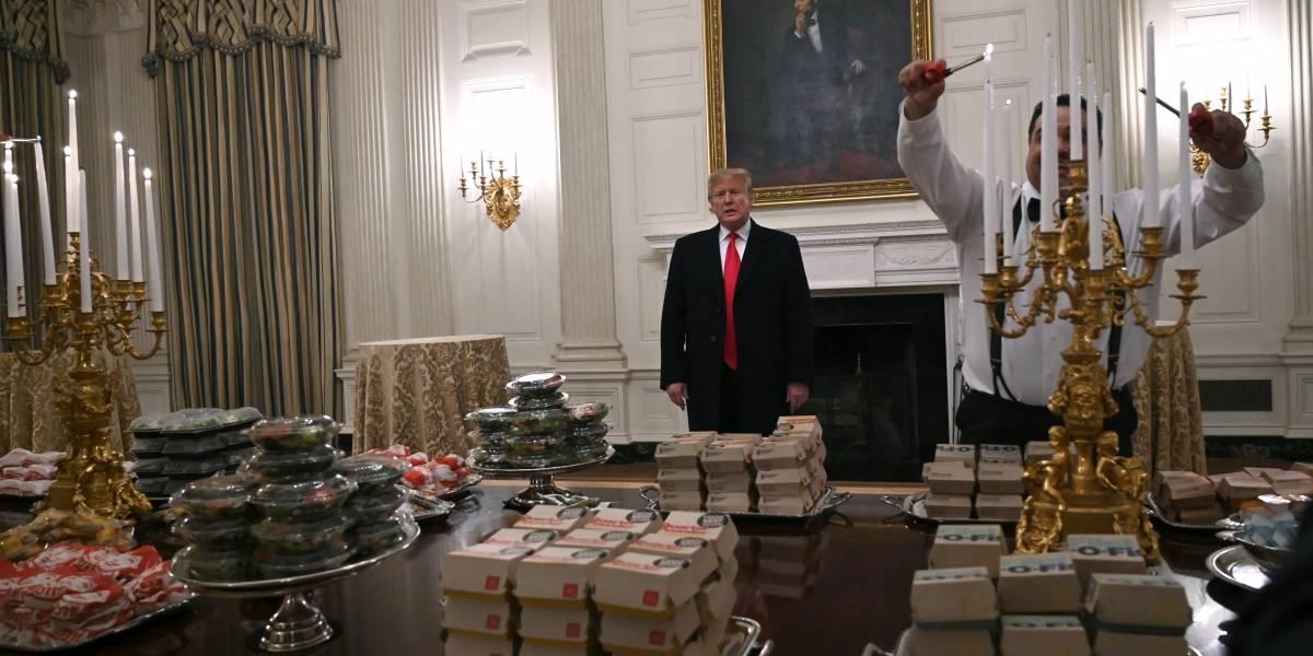 Por qué la Casa Blanca está llena de comida basura: el nuevo menú de Trump